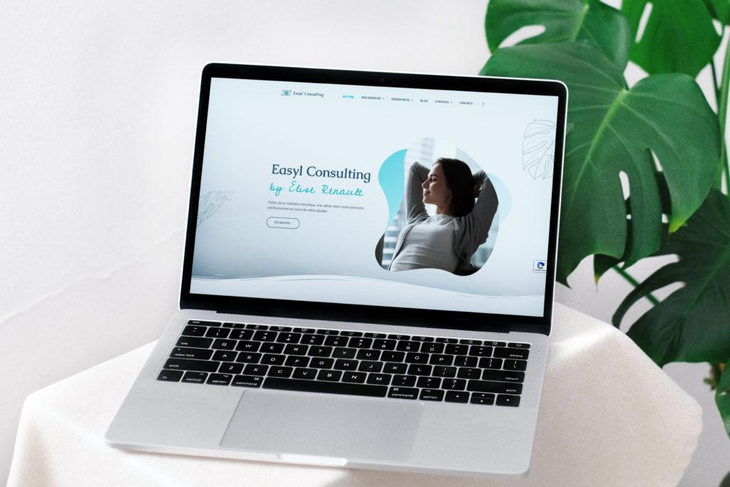 Image type mockup pour la refonte du site web d'Easyl Consulting